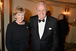 RICHARD HANNON and his wife JOSEPHINE at the 24th Cartier Racing Awards held at The Dorchester, Park Lane, London on 11th November 2014.
