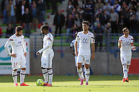 Nabil FEKIR / Alexandre LACAZETTE / Clement GRENIER - 09.05.2015 -  Caen / Lyon  - 36eme journee de Ligue 1<br />
