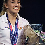 NLD/Amsterdam/20181220 - A Touch of Gold 2018, turnster Sanne Wevers met haar medailles