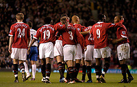 Fotball<br /> Foto: SBI/Digitalsport<br /> NORWAY ONLY<br /> <br /> Manchester United v Crystal Palace<br /> Coca-Cola Cup Fourth Round<br /> 10/11/2004<br /> <br /> Louis Saha (#9) celebrates putting Manchester United a goal in front.