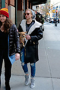 Nov. 25, 2015 - New York City, NY, USA - <br /> <br /> Actress Jennifer Lawrence arriving at her downtown hotel with her dog in New York City  <br /> ©Exclusivepix Media