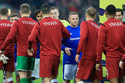 10th December 2017 - Premier League - Liverpool v Everton - Wayne Rooney of Everton shakes hands with the Liverpool players before the match - Photo: Simon Stacpoole / Offside.