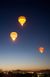 """""""Balloons Over Reno""""- These hot air balloons are part of the Dawn Patrol in The Great Reno Balloon Race."""