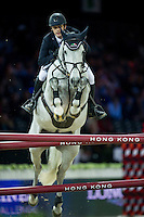Billy Twomey on Ardcolum Duke competes during Longines Speed Challenge at the Longines Masters of Hong Kong on 20 February 2016 at the Asia World Expo in Hong Kong, China. Photo by Juan Manuel Serrano / Power Sport Images