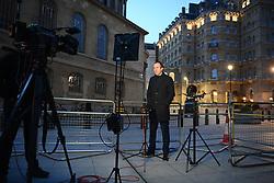 © Licensed to London News Pictures. 23/11/2020. London, UK. Health secretary MATT HANCOCK during media interviews in Westminster, London. Photo credit: Ben Cawthra/LNP