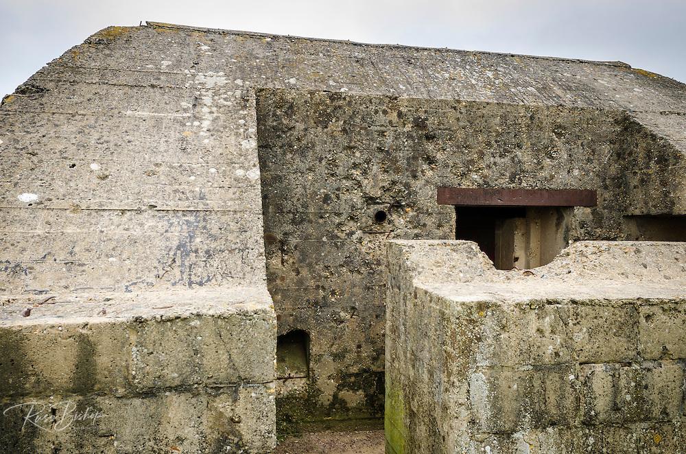 WWII German bunker on Omaha Beach, Normandy, France