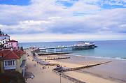 AMHK09 Cromer beach and pier Norfolk England