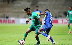23102018 (Durban) Cape Town City player Gift Links tackling for a ball with Amazulu Player Nhlanhla Vilakazi during the first round of the Telkom Knockout concludes on Tuesday night when Amazulu host MTN8 Cup winners Cape Town City at the King Zwelithini stadium.<br /> Picture: Motshwari Mofokeng/African News Agency (ANA)