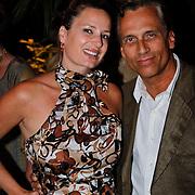 NLD/Amsterdam/20100906 - Modeshow Ronald Kolk najaar 2010, Robert Schoemacher en partner Claudia van Zweden