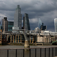 City of London skyline from Southbank;<br />