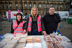 24JUL20 Laura McSorley of the homeless charity Kindness, with some of the volunteers helping the homeless in George Square.