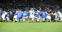 Rugby Union - 2017 Old Mutual Wealth Series (Autumn Internationals) - England vs. Samoa<br /> <br /> England and Samoan players join together on one knee after the match at Twickenham.<br /> <br /> COLORSPORT/ANDREW COWIE