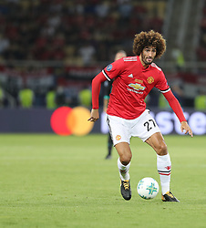 August 8, 2017 - Skopje, Macedonia - Marouane Fellaini of Manchester United in action during the UEFA Super Cup match between Real Madrid and Manchester United at Philip II Arena on August 8, 2017 in Skopje, Macedonia. (Credit Image: © Ahmad Mora/NurPhoto via ZUMA Press)