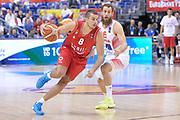 DESCRIZIONE : Berlino Berlin Eurobasket 2015 Group B Spain Serbia <br /> GIOCATORE :  Nemanja Dangubic<br /> CATEGORIA :  Palleggio sequenza<br /> SQUADRA : Serbia<br /> EVENTO : Eurobasket 2015 Group B <br /> GARA : Spain Serbia <br /> DATA : 05/09/2015 <br /> SPORT : Pallacanestro <br /> AUTORE : Agenzia Ciamillo-Castoria/I.Mancini<br /> Galleria : Eurobasket 2015 <br /> Fotonotizia : Berlino Berlin Eurobasket 2015 Group B Spain Serbia