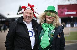 England and Ireland fans before the NatWest 6 Nations match at Twickenham Stadium, London.