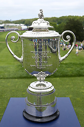 May 19, 2019 - Bethpage, New York, United States - The Wanamaker trophy rests on the first tee during the final round of the 101st PGA Championship at Bethpage Black. (Credit Image: © Debby Wong/ZUMA Wire)