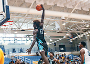 THOUSAND OAKS, CA Sunday, August 12, 2018 - Nike Basketball Academy. Kahlil Whitney 2019 #17 of Roselle Catholic HS soars for a dunk attempt. <br /> NOTE TO USER: Mandatory Copyright Notice: Photo by John Lopez / Nike