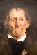 'Old Man' 1876 oil painting on canvas by Hans Heyerdahl 1857-1913, Kode 3 art gallery Bergen, Norway