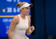 Katie Swan of Great Britain in action during the first qualification round at the 2018 US Open Grand Slam tennis tournament, New York, USA, August 22th 2018, Photo Rob Prange / SpainProSportsImages / DPPI / ProSportsImages / DPPI