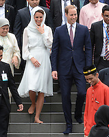The Duke and Duchess of Cambridge visit a mosque in Kuala Lumpur, Malaysia, as part of their Diamond Jubilee Tour of South East Asia, on the 14th September 2012<br /> <br /> PICTURE BY JAMES WHATLING
