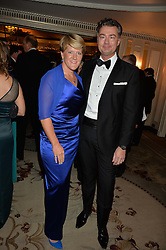 CLARE BALDING and LAURENT FENIOU at the 26th Cartier Racing Awards held at The Dorchester, Park Lane, London on 8th November 2016.