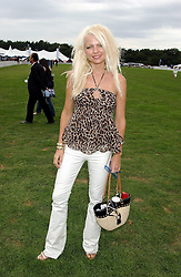 MISS HANNAH SANDLING at the 2004 Cartier International polo day at Guards Polo Club, Windsor Great Park, Berkshire on 25th July 2004.