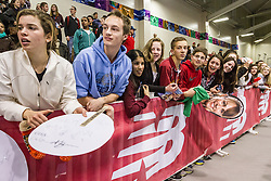 New Balance Indoor Grand Prix Track & FIeld:   fans trackside wait for autographs