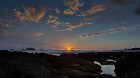 Sunset at Kona Beach, Big Island Hawaii. Image taken with Nikon D2xs and 12-24 mm lens (ISO 100, 12 mm, f/9, 1/90 sec).