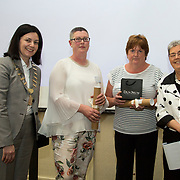 23.05.2018.       <br /> Today, the Institute of Community Health Nursing (ICHN) hosted its2018 community nurseawards in association withHome Instead Senior Care,at its annual nursing conference, in the Strand Hotel Limerick, rewarding public health nurses for their dedication to community care across the country. <br /> <br /> Poster Awards, pictured are recipients, Anne Marie Kelly, CNS Continence Promotion Unit, Dr Stevens Hospital, Dublin, and Teresa O Dowd, Registered General Nurse, Lucan Health Centre Dublin with Anne Lynott ICHN President and Virginia Pye.  Picture: Alan Place