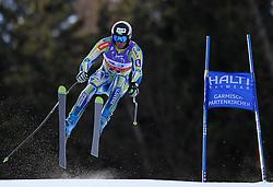 10.02.2011, Kandahar, Garmisch Partenkirchen, GER, FIS Alpin Ski WM 2011, GAP, Herren Abfahrtstraining, im Bild Gasper Markic (SLO) takes to the air competing in the first men's downhill training run on the Kandahar race piste at the 2011 Alpine skiing World Championships, EXPA Pictures © 2011, PhotoCredit: EXPA/ M. Gunn