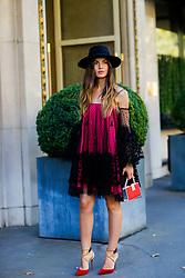Street style, blogger Kristi Gogsadze (la Georgienne) arriving at Balmain Spring Summer 2017 show held at Hotel Potocki, in Paris, France, on September 29, 2016. Photo by Marie-Paola Bertrand-Hillion/ABACAPRESS.COM