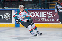 KELOWNA, CANADA - FEBRUARY 10: Jack Cowell #8 of the Kelowna Rockets skates against the Vancouver Giants on February 10, 2017 at Prospera Place in Kelowna, British Columbia, Canada.  (Photo by Marissa Baecker/Shoot the Breeze)  *** Local Caption ***