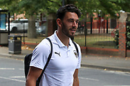 AFC Wimbledon defender Will Nightingale (5) arriving for the game during the EFL Sky Bet League 1 match between AFC Wimbledon and Plymouth Argyle at the Kiyan Prince Foundation Stadium, London, England on 19 September 2020.