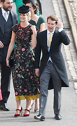 James Blunt (right) and Sofia Wellesley arrive for the wedding of Princess Eugenie to Jack Brooksbank at St George's Chapel in Windsor Castle.