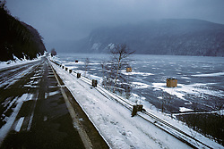 Frozen Lake With Fishing Huts