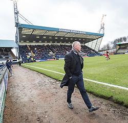 Raith Rovers manager John Hughes first game. Raith Rovers 1 v 1 Hibernian, Scottish Championship game played 18/2/2017 at Starks Park.