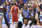 DESCRIZIONE :  Lega A 2014-15  EA7 Milano -Banco di Sardegna Sassari playoff Semifinale gara 7<br /> GIOCATORE : Sanders Rakim<br /> CATEGORIA : Low Esultanza<br /> SQUADRA : Banco di Sardegna Sassari<br /> EVENTO : PlayOff Semifinale gara 7<br /> GARA : EA7 Milano - Banco di Sardegna Sassari PlayOff Semifinale Gara 7<br /> DATA : 10/06/2015 <br /> SPORT : Pallacanestro <br /> AUTORE : Agenzia Ciamillo-Castoria/A.Scaroni<br /> Galleria : Lega Basket A 2014-2015 Fotonotizia : Milano Lega A 2014-15  EA7 Milano - Banco di Sardegna Sassari playoff Semifinale  gara 7<br /> Predefinita :