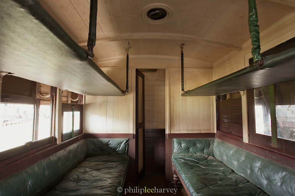 A passenger carriage at the railway museum in Nairobi, Kenya. The railway is rich with history, and integral in the developement of the country after being colonised by the British in the 19th century