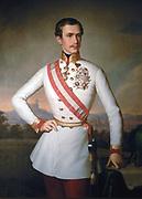 Franz Joseph I or Francis Joseph I (1830 – 21 November 1916) Emperor of Austria, King of Bohemia, King of Croatia and Apostolic King of Hungary from 1848 until his death in 1916. Portrait of Franz Joseph I of Austria 1855