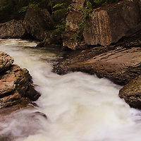 """""""Rockin the Run"""" 3<br /> <br /> Wonderful and scenic Meadow Run stream flowing strongly over beautiful rock formations in Ohiopyle State Park located in Ohiopyle PA.!!<br /> <br /> Laurel Highlands Area of Pennsylvania by Rachel Cohen"""