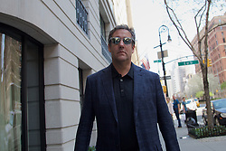April 14, 2018 - MICHAEL COHEN, President Trump's personal attorney, walks around Manhattan following FBI raids on his home and office in New York City. (Credit Image: ©  via ZUMA Wire)