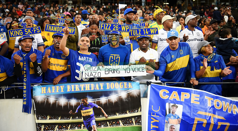Cape Town-180804 Cape Town City supporters cheer for their team against Supersport  in the first game of the 2018/2019 season at Cape Town Stadium.photograph:Phando Jikelo/African News Agency/ANAr