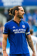 Cardiff City defender and Captain Sean Morrison (4) during the EFL Sky Bet Championship match between Cardiff City and Bournemouth at the Cardiff City Stadium, Cardiff, Wales on 18 September 2021.