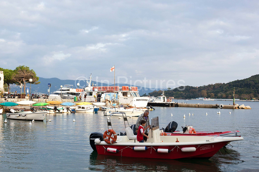 Boats in the harbour, Portovenere, Italy.