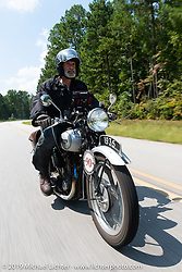 Paul Warrenfelt riding his 1935 Triumph 250cc Single during the Cross Country Chase motorcycle endurance run from Sault Sainte Marie, MI to Key West, FL. (for vintage bikes from 1930-1948). Stage-6 from Chattanooga, TN to Macon, GA USA covered 258 miles. Wednesday, September 11, 2019. Photography ©2019 Michael Lichter.