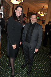 CAROLINE NOKES MP and MARK WADDINGTON Chief Executive Hope & Hopes for Children at a reception for The Mirela Fund in partnership with Hope and Homes for Children hosted by Natalie Pinkham in The Churchill Room, House of Commons, London on 30th April 2013.