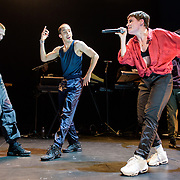 WASHINGTON, DC - November 4th, 2018 - Heloise Letissier of Christine and the Queens (right) performs on stage at the 9:30 Club. She released her sophomore album, Chris, last September and it became a Top 5 album across Europe. (Photo by Kyle Gustafson / For The Washington Post)