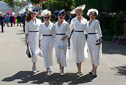 The Tootsie Rollers arriving for day three of Royal Ascot at Ascot Racecourse.