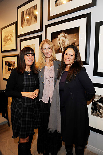 LOS ANGELES - OCTOBER 21:   Liliana Casabal, Bristol MacDonald and Neda DeMayo attend the Morgane Le Fay Trunk Show Photography Event in Malibu, Los Angeles, CA