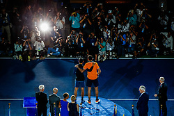September 10, 2018 - Flushing Meadow, NY, U.S. - FLUSHING MEADOW, NY - SEPTEMBER 09: NOVAK DJOKOVIC (SRB) and JUAN MARTIN DEL P305744O (ARG) day fourteen of the 2018 US Open on September 09, 2018, at Billie Jean King National Tennis Center in Flushing Meadow, NY. (Photo by Chaz Niell/Icon Sportswire) (Credit Image: © Chaz Niell/Icon SMI via ZUMA Press)